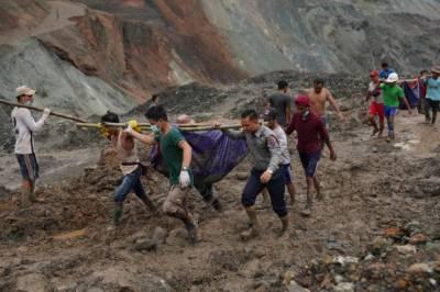 میانمار میں لینڈ سلائیڈنگ، 160 سے زائد افراد ہلاک