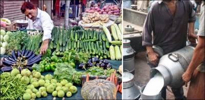 دودھ کی قیمت میں 10، سبزیوں کی قیمتوں میں 50 روپے کا اضافہ
