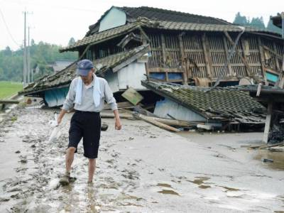 بارش رکنے کے باوجود مٹی کے تودے گرنے کا خطرہ موجود ہے، جاپانی محکمہ موسمیات