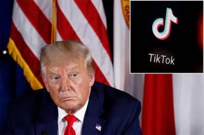 امریکی صدر کا ٹک ٹاک پرپابندی لگانےکا اعلان