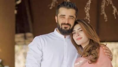 حمزہ علی عباسی نے نومولود بیٹے کی تصویر شیئر کر دی