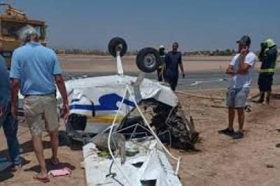 مصر،چھوٹا پرائیویٹ طیارہ جونا ائیرپورٹ پرگر کر تباہ ، دونوں پائیلٹ ہلاک