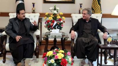 وزیراعلی عثمان بزدار سے وزیر خارجہ شاہ محمود قریشی کی ملاقات،سیاسی صورتحال او رجنوبی پنجاب سیکرٹریٹ کے امور پر تبادلہ خیال