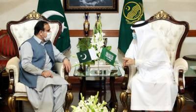 وزیر اعلی پنجاب عثمان بزدارسے سعودی عرب کے سفیر نواف بن سعید احمد المالکی کی ملاقات ،سعودی عرب ہمیشہ پاکستان کے ساتھ کھڑا رہا ہے:سعودی سفیر