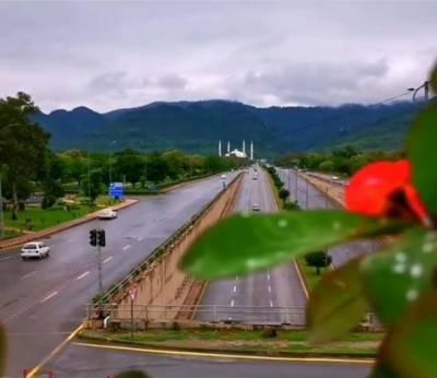 اسلام آباد سمیت ملک کے مختلف حصوں میں بارش، موسم خوشگوار