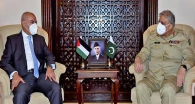 آرمی چیف سے اردن کے سفیر کی ملاقات، باہمی دلچسپی کے امور پر گفتگو
