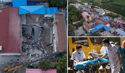 چین میں ریستوران زمین بوس، 29 افراد ہلاک