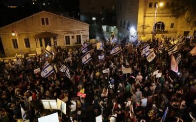 اسرائیل میں نیتن یاہو کے خلاف احتجاجی مظاہرے