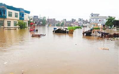 بھارتی آبی جارحیت ، دریائے چناب میں درمیانے درجے کا سیلاب، ملتان کی نواحی بستیاں زیر آب