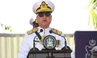 پاک بحریہ آج بھی دشمن کی سازشوں کا منہ توڑ جواب دینے کیلئے ہمہ وقت تیار ہے: سربراہ پاک بحریہ