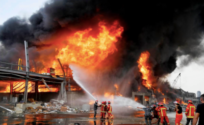 بیروت پھر خوفناک آگ کی لپیٹ میں آگیا