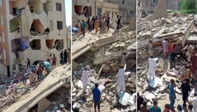 کراچی: عمارت گرنے کا واقعہ، ریسکیو آپریشن مکمل، 4 افراد جاں بحق، 7 زخمی