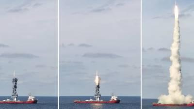 چین نے سمندر سے 9 مصنوعی سیارے خلائی مدار میں بھیج دئے