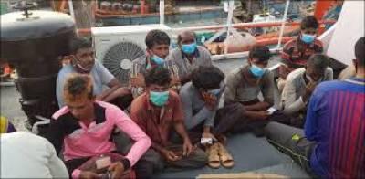 پاکستانی سمندری حدود کی خلاف ورزی ، 56 بھارتی ماہی گیر گرفتار،10 کشتیاں قبضے میں لے لیں