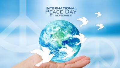 دنیابھرمیں آج عالمی یوم امن منایاجارہاہے