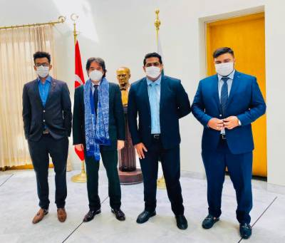 پاکستان ٹریڈیشنل سپورٹس اینڈ گیمز پاکستان ایسوسی ایشن کے صدر نواب فرقان خان کی ترکی کے ایمبیسیڈر احسان مصطفٰی کے ساتھ ملاقات