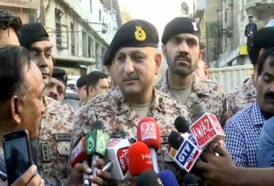 کراچی کے شہری خوفزدہ نہ ہوں،سازشی عناصر کو کامیاب نہیں ہونے دیں گے: ڈی جی رینجرز سندھ
