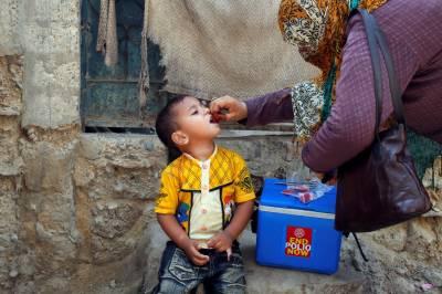 پاکستان کے128 اضلاع میں پولیو مہم کا آغاز