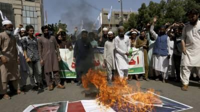 اسلام آباد ،گستاخانہ خاکوں کیخلاف احتجاج ،مظاہر ین کی پولیس کیسا تھ جھڑپ