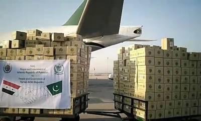 کورونا سے نمٹنے کیلئے پاکستان کی امداد شام روانہ