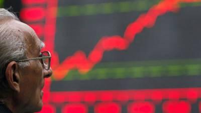 کراچی :اسٹاک مارکیٹ میں زبردست تیزی کا رجحان ،کے ایس ای100انڈیکس 1300پوائنٹس بڑھ گیا