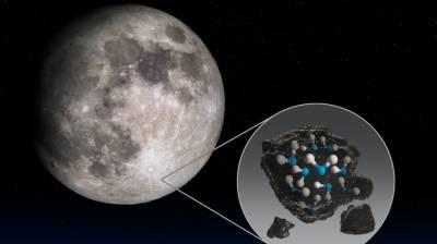 چاند کے روشن حصوں میں بھی پانی موجود ہے، ناسا