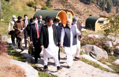 وزیر اعظم عمران خان کا سیاحتی مقام گبین جبہ, سوات کا دورہ