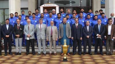 واپڈا سپورٹس بورڈ کی جانب سے 66ویں قومی ہاکی چمپیئن شپ جیتنے والی ہاکی ٹیم کے کھلاڑیوں کے اعزاز میں تقریب تقسیم انعامات کا انعقاد