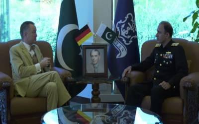 چیف آف دی نیول اسٹاف ایڈمرل محمد امجد خان نیازی سے جرمن سفیر کی ملاقات