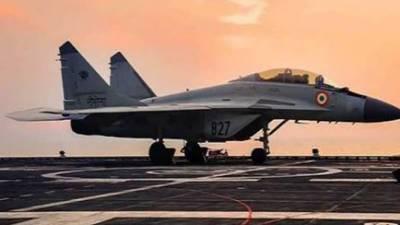 بھارتی بحریہ کا مگ 29 طیارہ گر کر تباہ ، ایک پائلٹ لاپتہ