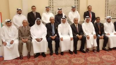 قطر اولمپک ایسوسی ایشن کے وفد کی 2030 ایشین گیمز کی میزبانی حاصل کرنے کے لئے پاکستان اولمپک ایسوسی ایشن کے وفد کو بریفنگ