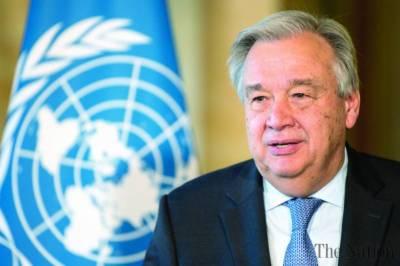 عالمی ادارہ تمام متاثرہ شہریوں کو انسان دوست مدد فراہم کرنے کے لئے تیار ہے :جنرل سیکرٹری اقوام متحدہ