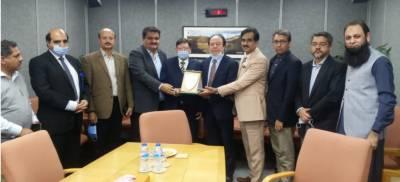 لاہور چیمبر آف کامرس اینڈ انڈسٹری کے نائب صدر طاہر منظور چودھری کی سید جواد نسیم سے ملاقات