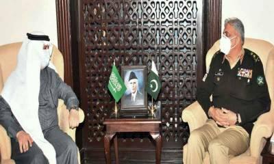 آرمی چیف سے سعودی سفیر نواف المالکی کی ملاقات
