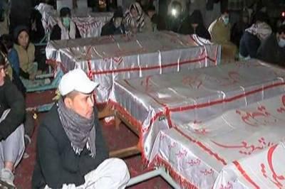 سانحہ مچ میں شہید کان کنوں کی نماز جنازہ ادا