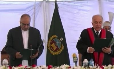 جسٹس قیصر رشید خان نے چیف جسٹس پشاور ہائی کورٹ کے عہدے کا حلف اٹھا لیا