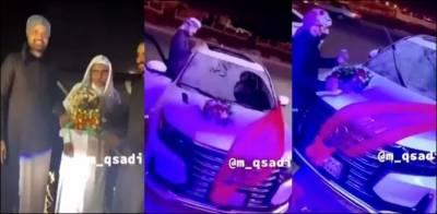 کرونا وائرس سے صحت یابی کے بعد 72 سالہ شخص کے لیے گاڑی کا تحفہ، ویڈیو وائرل