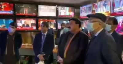 وفاقی وزیرداخلہ شیخ رشید احمد پی ڈی ایم کے احتجاج کی خود مانیٹرنگ کرتے رہے