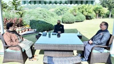 صدر مملکت سے عمران اسماعیل اور سیف اللہ نیازی کی ملاقات،ملک کی مجموعی سیاسی صورتحال اور آئندہ انتخابات پر تبادلہ خیال