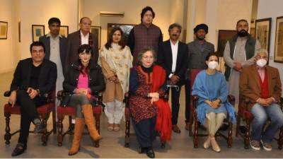 لاہور آرٹس کونسل کے بورڈ آف گورنرز کی چیئرپرسن منیزہ ہاشمی کی سربراہی میں بورڈ ممبران نے الحمراءکلچرل کمپلیکس قذافی سٹیڈیم کا دورہ کیا