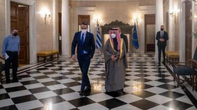 سعودی وزیر خارجہ کی یونانی وزیراعظم سے ملاقات