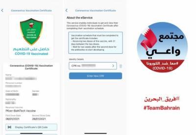 بحرین میں کورونا کی ویکسین لگوانے والوں کے لیے ڈیجیٹل پاسپورٹ کا اجرا