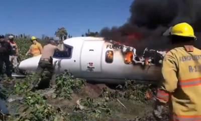 میکسیکو میں فوجی طیارہ گر کر تباہ ، 7 افراد ہلاک