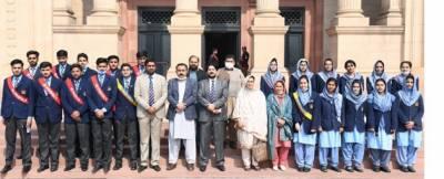 چناب کالج شورکوٹ کے 24 رکنی وفد، اساتذہ اور طلبا کا پنجاب اسمبلی کا مطالعاتی دورہ