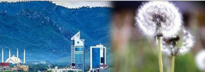 اسلام آباد ،ہوا میں پولن کی شرح خطرناک حد تک بڑھ گئی