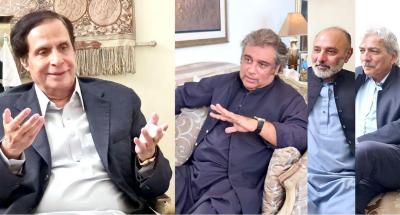 سپیکر پنجاب اسمبلی چودھری پرویزالٰہی سے وفاقی وزیر علی حیدر زیدی کی ملاقات، موجودہ سیاسی صورتحال پر گفتگو
