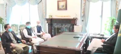 وزیرِ اعظم سے محمد صادق سنجرانی اور مرزا محمد آفریدی کی ملاقات