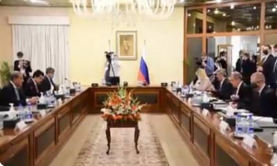 پاکستان اور روس کے درمیان وزرا خارجہ کی سطح پر مذاکرات،باہمی دلچسپی کے علاقائی وبین الاقوامی امور پر تبادلہ خیال