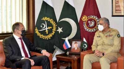 آرمی چیف جنرل قمر جاویدباجوہ سے روسی وزیر خارجہ کی ملاقات