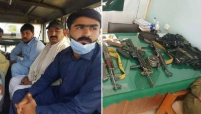 این اے 75 ڈسکہ میں ضمنی الیکشن: پولنگ اسٹیشن کے قریب سے 9اسلحہ بردار افراد گرفتار